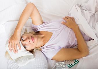 Stressed female pensioner