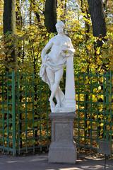 statue in the summer garden in St. Petersburg, Russia