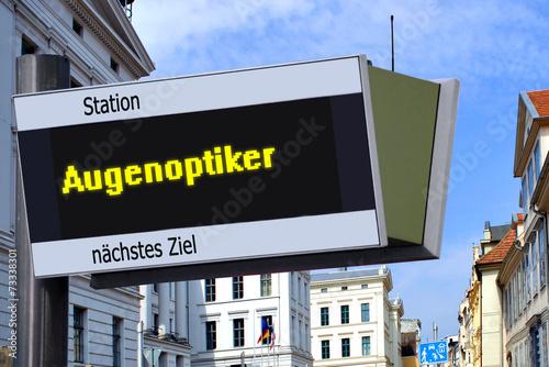 canvas print picture Anzeigetafel 7 - Augenoptiker