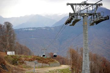 ski lift in Sochi Krasnaya Polyana, Sochi, Russia