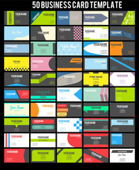50 Business Card Template Collection