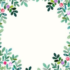Floral background.  Birthday card. Floral decorative frame.