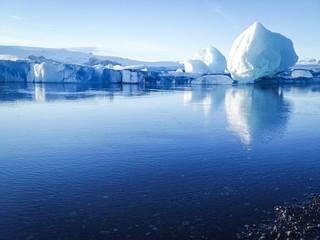 Start winter at Glacier Lagoon  in Iceland