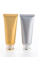 Cosmetic cream bottle isolated on white background