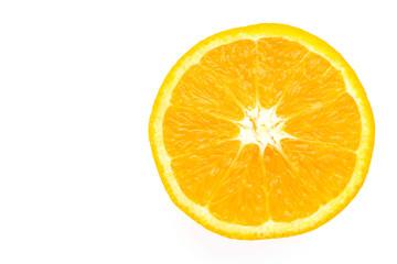 Orange isolated on white