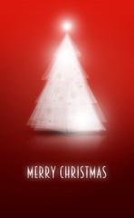 Bordowa kartka świąteczna