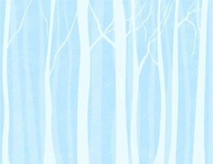"vector background ""winter in a forest"""