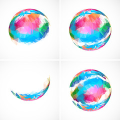 Set of abstract sphere icons
