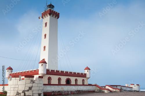 Tuinposter Vuurtoren / Mill Lighthouse of La Serena, Chile