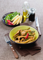 pork fillet with green beans