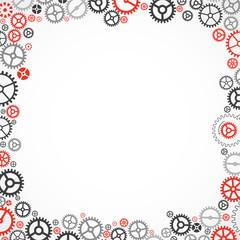 Cogwheel frame. Vector illustration