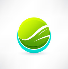 Eco icon. Logo design.