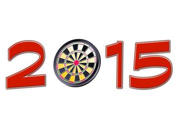 New year 2015 dartboard