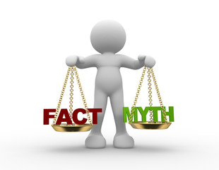 Facts and myth on scale.