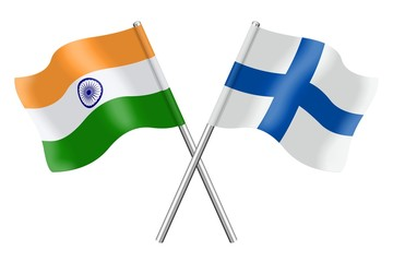 Flags: India and Finland