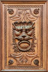 Detail of wooden door