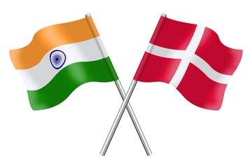 Flags: India and Denmark