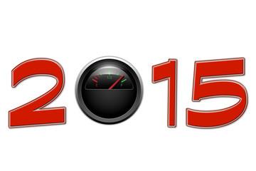 New year 2015 fuel gauge