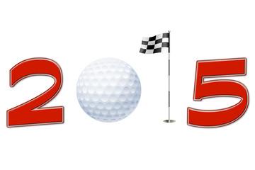 Anno nuovo 2015 con simbolo golf