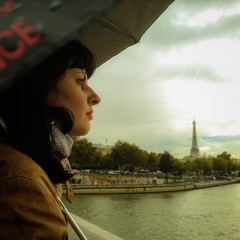 woman emerged into her thoughts in paris