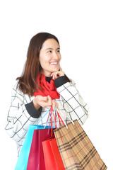 Portrait of girl shopping