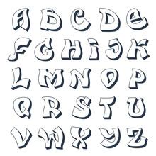 Graffiti alphabet white