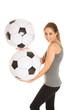 canvas print picture - Fußballfan