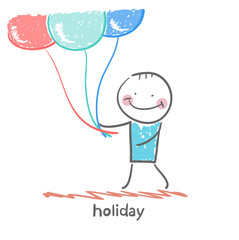 holiday with balloons