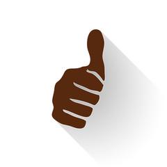 Vector sign thumb up