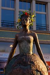 Contemporary statue in Wroclaw, Poland