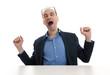 yawning business man
