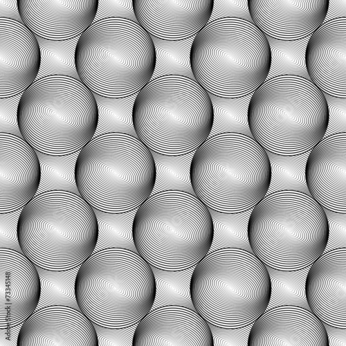 In de dag Kunstmatig Design seamless monochrome sphere geometric lines pattern