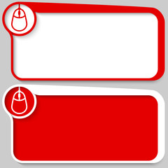 set of two vector text box and mouse icon