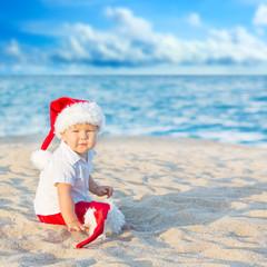 Little baby Santa. Christmas concept