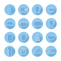 Set of kitchen appliances and tools web icons,symbol,sign in