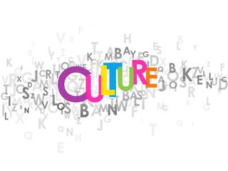 """Mosaïque de Lettres """"CULTURE"""" (spectacles expositions société)"""