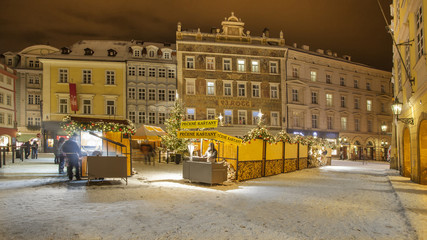 christmas in city Prague