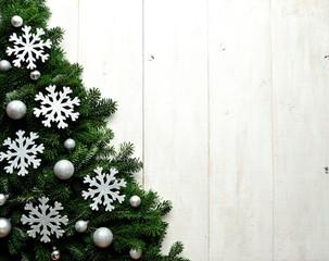 Silver snow flakes  Christmas tree