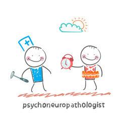 psychoneuropathologist  stands next to a man with a bomb