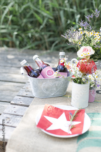 Fotobehang Picknick gesundes picknick