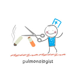 pulmonologist scissor cigarette
