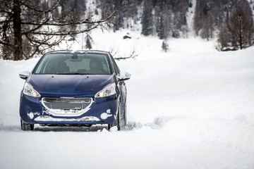Car on snow