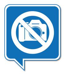 Logo appareil photo interdit.