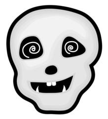 Hypnotized Halloween Skull