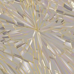 Broken glass vector polygon background