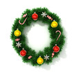 canvas print picture - Christmas tree font letter O