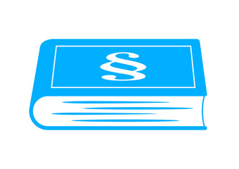 Blue book icon on white background