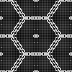 black and white pattern - possible for curtain,  table-cloth