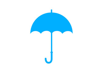Blue umbrella icon on white background