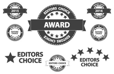 Editors Choice Quality Product Award Retro Icons